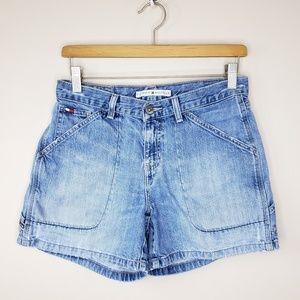 90s Vintage Tommy Hilfiger | Denim Cargo Shorts